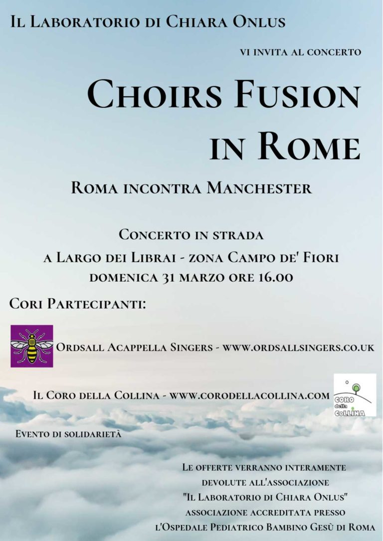 Choirs fusion in Rome - Roma incontra Manchester